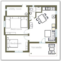 Floorplan (floor plan) 2 bed house