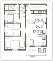 Floorplan (floor plan) 3 bed house
