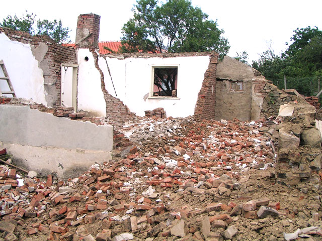 House in Bulgaria was not structurally sound and had to be demolished