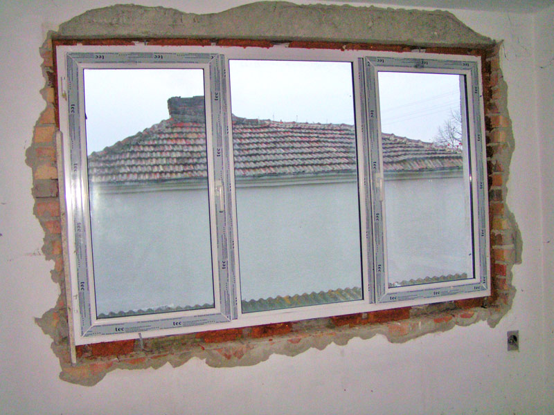 This is how others install new PVC windows to replace old ones