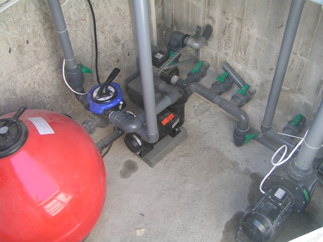 Filtration and pump room