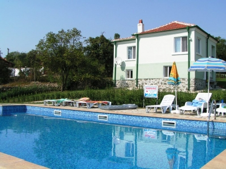 enjoing the new swimming pool in Bulgaria - villas on picture available for rent
