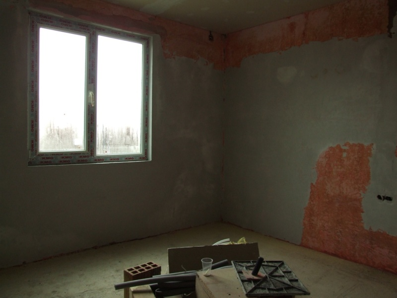 Smooth plastering of the walls