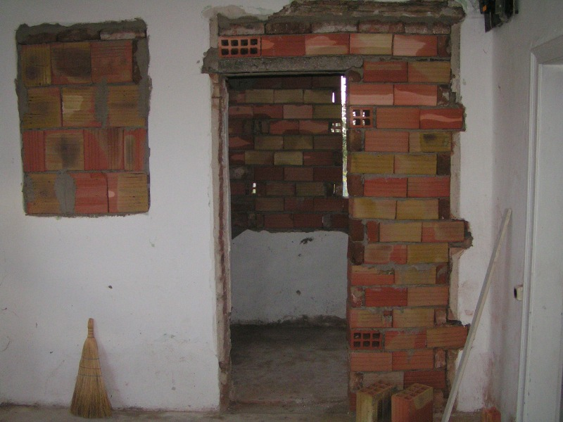 Rough building of the bathroom