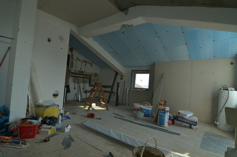 Ceiling insulation whit XPS plates