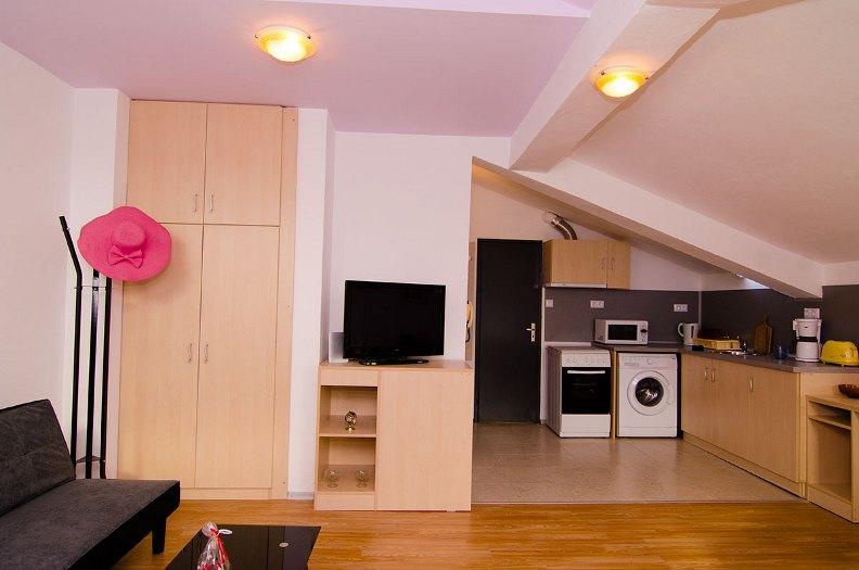 The renovated studio